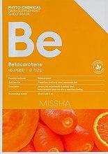 Духи, Парфюмерия, косметика Тканевая маска для лица - Missha Phytochemical Skin Supplement Sheet Mask Betacarotene/Nourishing