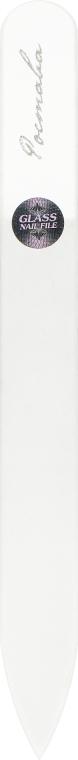 Пилочка для ногтей, хрустальная прозрачная, бордовый чехол 115мм - Ростава