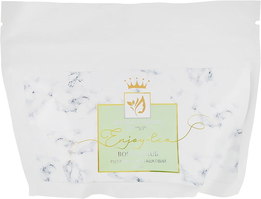 """Натуральный сахарный скраб для тела """"Фисташковый"""" - Enjoy & Joy Enjoy Eco Body Scrub Pistachio"""