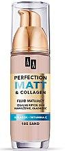 Духи, Парфюмерия, косметика Матирующий тональный флюид - AA Cosmetics Make Up Perfection Matt & Collagen Fluid