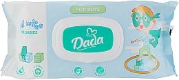 Духи, Парфюмерия, косметика Влажные салфетки без запаха для мальчиков, с клапаном - Dada Wipes For Boys