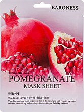 Духи, Парфюмерия, косметика Тканевая маска с экстрактом граната - Beauadd Baroness Mask Sheet Pomegranate