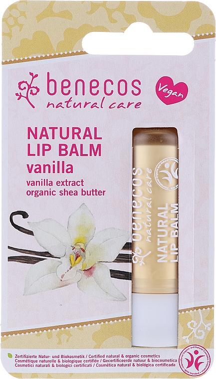 """Бальзам для губ """"Ваниль"""" - Benecos Natural Care Lip Balm Vanilla"""