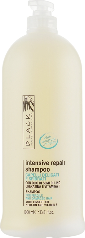 Восстанавливающий шампунь для сухих и ослабленных волос - Black Professional Line Revitalising Shampoo