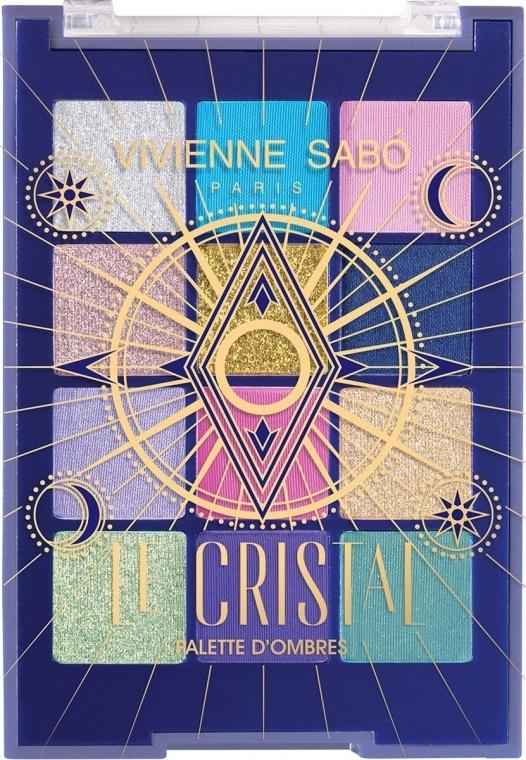 Палетка теней для век - Vivienne Sabo Le Cristal Eyeshadow Palette