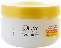 Духи, Парфюмерия, косметика Дневной крем тройного действия для нормальной и сухой кожи - Olay Complete Day Cream