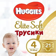 Духи, Парфюмерия, косметика Трусики-подгузники Elite Soft Pants L, размер 4 (9-14кг), 21шт - Huggies