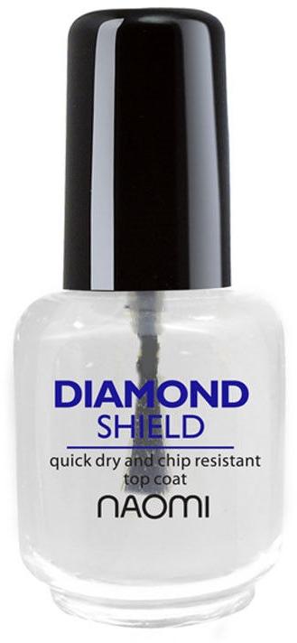 """Быстросохнущий закрепитель """"Алмазный щит"""" - Naomi Diamond Shield — фото N2"""