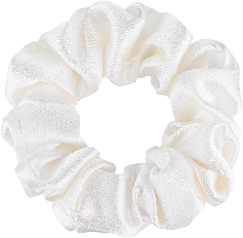 """Резинка для волос из натурального шелка, молочная """"Midi"""" - Makeup Midi Scrunchie Milk"""