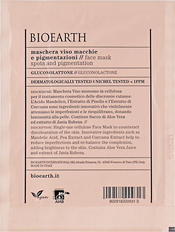 Маска для лица против пигментационных пятен - Bioearth Anti-Pigmentation Face Mask