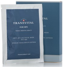 Духи, Парфюмерия, косметика Маска для лица супервосстанавливающая - Transvital For Men Anti Jet-Lag Facial Mask