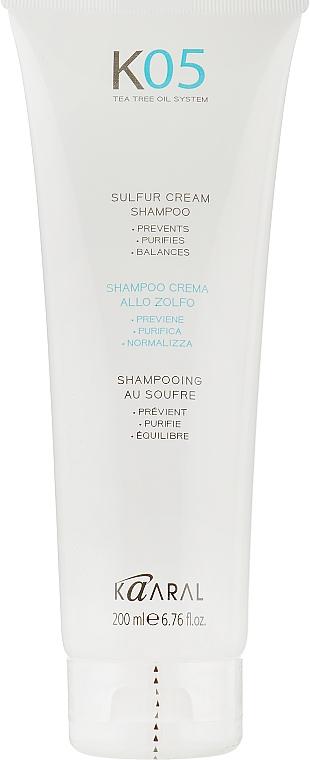 Специализированный трихологический крем-шампунь на основе серы - Kaaral К05 Shampoo
