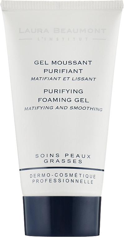Очищающая пена-гель для жирной/проблемной кожи - Laura Beaumont Purifying Foaming Gel Matifying And Smoothing