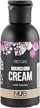 Духи, Парфюмерия, косметика Крем для ног питательный - NUB Foot Care Nourishing Cream Wild Berries