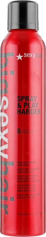 Спрей для дополнительного объема - SexyHair BigSexyHair Spray & Play Harder Firm Volumizing Hairspray