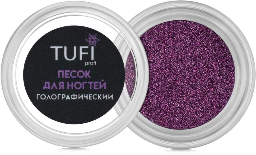 Песок для ногтей голографический, 0,15мм - Tufi Profi
