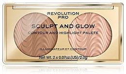 Духи, Парфюмерия, косметика Контурная палетка для лица - Revolution Pro Sculpt And Glow