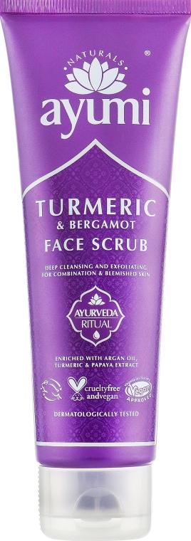 Скраб для лица - Ayumi Turmeric & Bergamot Face Scrub
