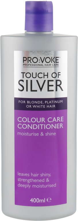 Кондиционер для волос холодных оттенков блонд сохраняющий цвет волос - Pro:Voke Touch of Silver Colour Care Conditioner