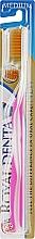 Духи, Парфюмерия, косметика Зубная щетка средней мягкости с наночастицами золота, розовая - Royal Denta Gold Medium Toothbrush