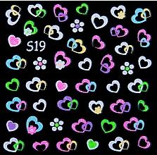 Парфумерія, косметика Неонові наклейки для нігтів, S - Vizavi Professional