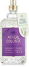 Духи, Парфюмерия, косметика Maurer & Wirtz 4711 Acqua Colonia Lavender & Thyme - Одеколон (тестер без крышечки)