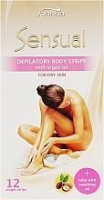 Духи, Парфюмерия, косметика Пластырь с воском для депиляции тела с аргановым маслом - Joanna Sensual Dipilatory Body Strips