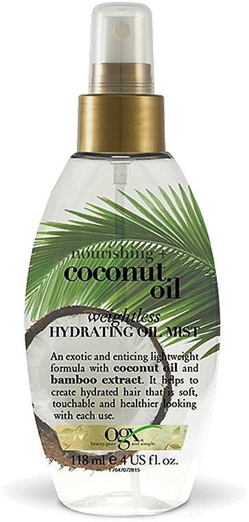 Легкое увлажняющее масло-спрей с кокосовым маслом - OGX Coconut Milk Weightless Hydrating Oil Mist