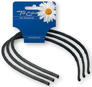 Обручи для волос тонкие 3 шт, черные - Top Choice