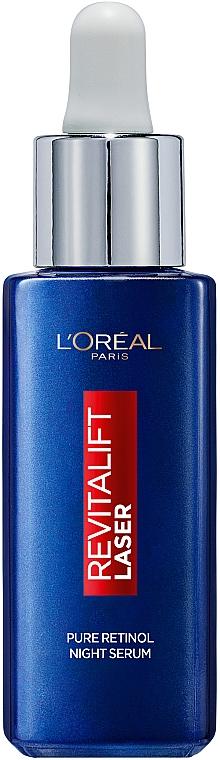 Ночная сыворотка с ретинолом для кожи лица против глубоких морщин - L'Oreal Paris Revitalift Lazer
