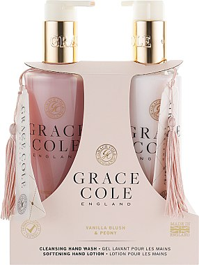 Набор - Grace Cole Vanilla Blush & Peony (h/wash/300ml + h/lot/300ml)