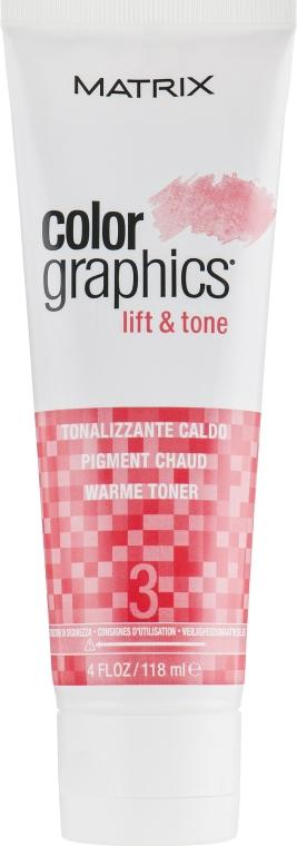 Тонер для волос теплый - Matrix Colorgraphics Lift & Tone Warm Toner