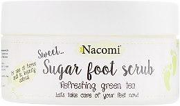 Духи, Парфюмерия, косметика Сахарный пилинг для ног с зеленым чаем - Nacomi Sugar Foot Peeling