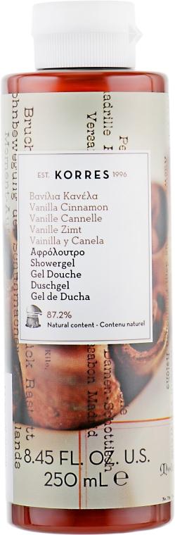"Гель для душа ""Ваниль Корица"" - Korres Vanilla Cinnamon Shower Gel"