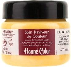 """Духи, Парфюмерия, косметика Крем-маска для волос """"Золотистый блондин"""" - Henne Color Colour Enhancing Mask Golden Blonde"""