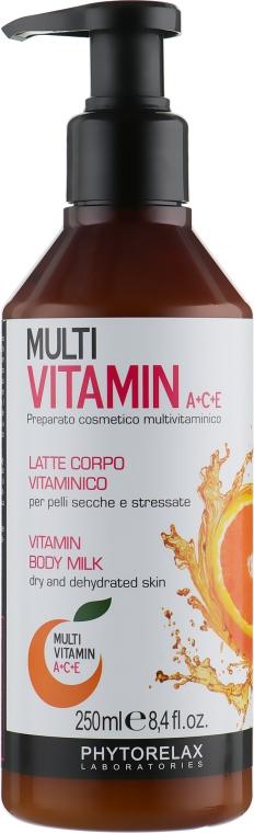 Мультивитаминное молочко для тела - Phytorelax Laboratories Multi Vitamin A+C+E Body Milk