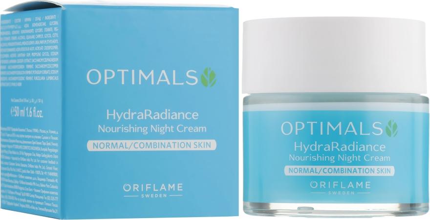 Увлажняющий ночной крем для нормальной и комбинированной кожи - Oriflame Optimals Hydra Radiance