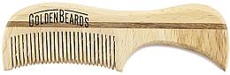 Духи, Парфюмерия, косметика Гребень для усов из эко дерева, 7,5 см - Golden Beards Eco Moustache Comb