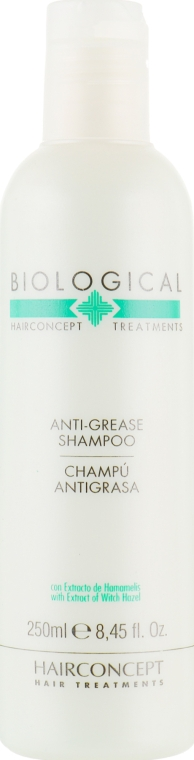 Лечебный шампунь для жирных волос - HairConcept Biological Anti-Grease Shampoo