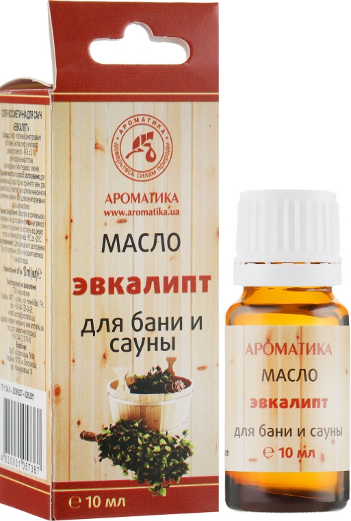 """Эфирное масло для бани и сауны """"Эвкалипт"""" - Ароматика"""