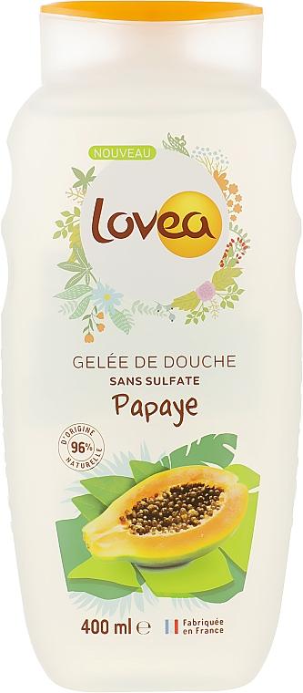 """Гель для душа """"Папайя"""" - Lovea Energising Shower Gel Vanille Papaya"""
