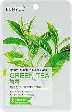 Духи, Парфюмерия, косметика Увлажняющая тканевая маска с экстрактом зелёного чая - Eunyul Natural Moisture Mask Pack Green Tea