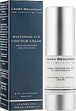Відбілюючий крем навколо очей - Laura Beaumont Whitening Eye Contour Crem — фото N2