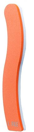 Пилка для нігтів полірувальна, помаранчева - Malva Cosmetics — фото N1