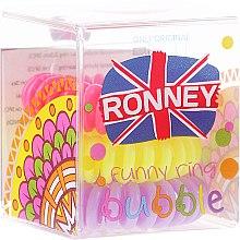 Духи, Парфюмерия, косметика Резинки для волос, 3,5 см - Ronney Professional S6 MAT Funny Ring Bubble