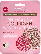 Духи, Парфюмерия, косметика Тканевая маска для лица - Derma V10 Woven Face Mask Anti Ageing Collagen