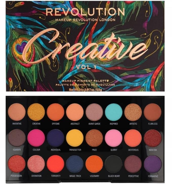 Палетка теней для век, 24 оттенка - Makeup Revolution Creative Vol 1 Eyeshadow Palette