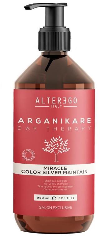 Серебристый шампунь для волос - Alter Ego Arganikare Miracle Color Silver Maintain