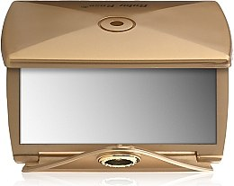 Духи, Парфюмерия, косметика Зеркало двухстороннее конверт, золото - Ruby Rose Delux Two-Way Mirror