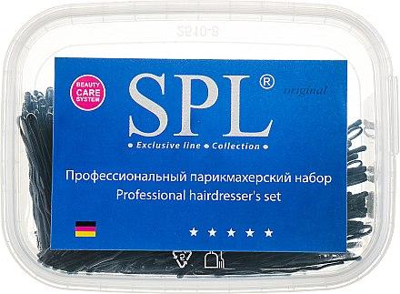 Невидимки для волос 50 мм, 50911, фрезерованные черные - SPL